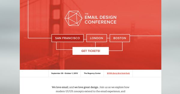 The Email Design Conference San Francisco Email Template Design Conference Design Email Design
