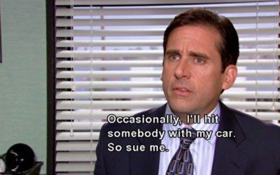 When Michael Hit Meredith With His Car Michael Scott Quotes Best Michael Scott Quotes Michael Scott