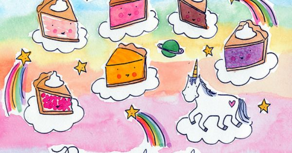 Seeking Sweetness In Everyday Life Cakespy Food Coloring Pages Pie In The Sky Illustration Quotes