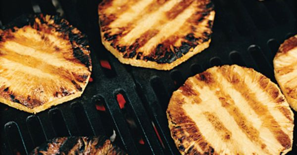 Grilled Rum-Basted Pineapple with Sorbet   Recipe   Sorbet, Sorbet ...