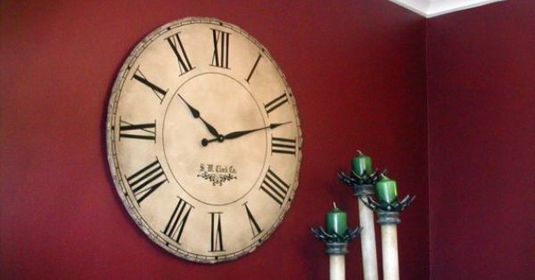 Home Wall Clock Ideas: 30 Inch Large Wall Clock Grand Gallery Personalized By