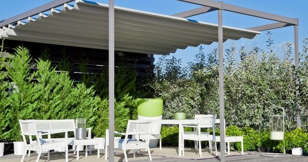 Vrijstaande aluminium terrasoverkapping met schuifdak tuin idee n pinterest garden ideas - Overdekt terras in aluminium ...