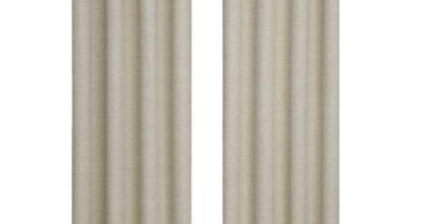 Eclipse Bobbi Blackout Window Curtain Panel In Ivory 52 In W X