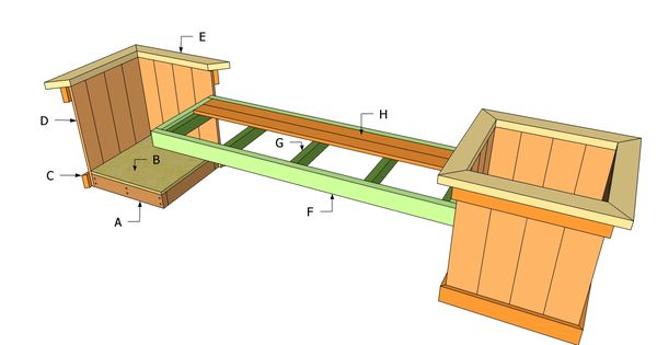 Elevated Planter Box made from 2x4s Plans | MyOutdoorPlans ...  |Box Sturdy Made Parkour Plans