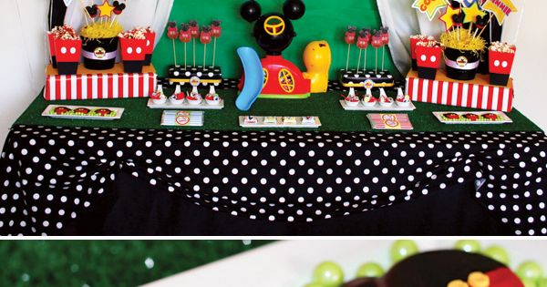 mickey mouse birthday party ideas | Mickey Mouse Clubhouse Party via Kara's