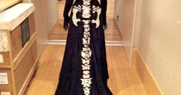 Well now, that would be a unique wedding gown for a Halloween