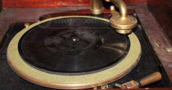 Antique Thomas Edison Diamond Disc Phonograph Antique Music Box Turn Table Vinyl Vinyl