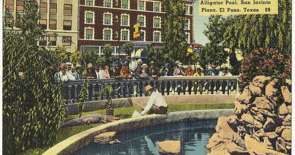 Alligator Pool San Jacinto Plaza El Paso Texas El