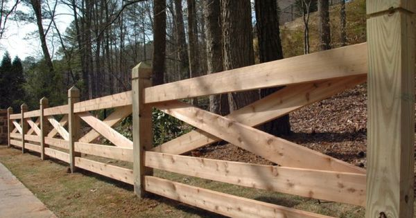 The Cross Wooden Fence Idea For Our New House For The