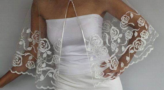 Argent dor en tulle de mari e cape brillant mariage robe for Robes de mariage en argent