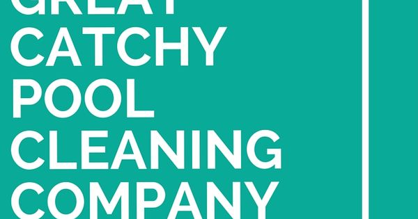 Pool cleaning, Cleaning and Company slogans on Pinterest