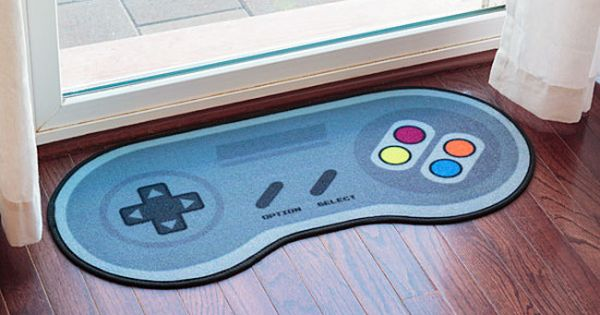 16 bit game controller doormat on floor geek decor fanart pinterest 16 bit game - Geeky welcome mats ...