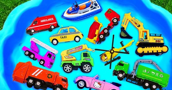 Learning Name And Sound Construction Vehicles Toys Youtube Kinder