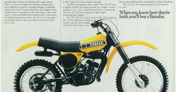 YAMAHA Brochure YZ125 YZ125D 1977 VMX Motorcycle Sales Catalog REPRO
