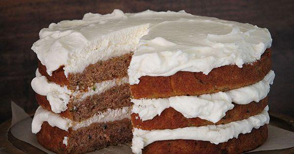 Zucchini Banana Layer Cake with Whipped Cream Cheese Frosting | Recipe ...