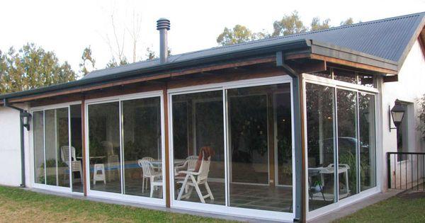 Solarium cerramientos aberturas de aluminio arquitectura del aluminio quincho pinterest - Porches cerrados de aluminio ...