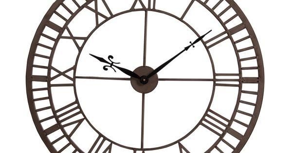 Reloj pared met lico estilo industrial hueco reloj pared for Reloj pared estilo industrial