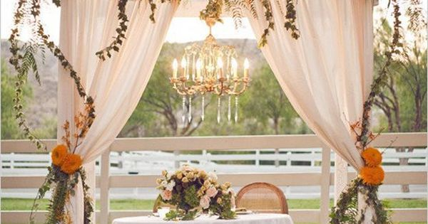 Perfect outdoor wedding setting for a ceremony. For more fashion and wedding inspiration visit www.finditforwedd... Rustic wedding vintage wedding romantic wedding