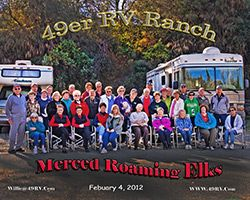 Merced Roaming Elks Group Photo Rv Parks Rv Campgrounds Resort