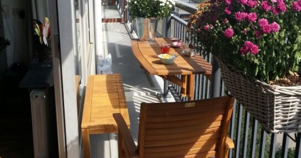 Optie voor een klein balkon things that we all love pinterest - Lay outs idee klein appartement ...
