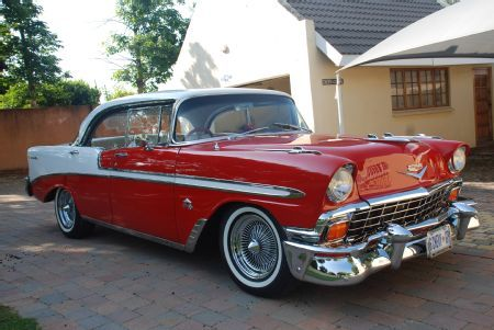 Restore 56 Chevy Bel Air With My Buddy Classic Red And White Or