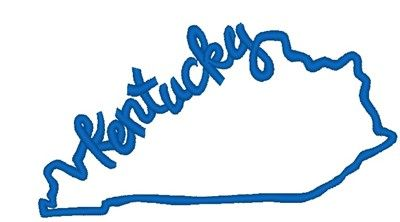 Sticker Kentucky State Outline Decal