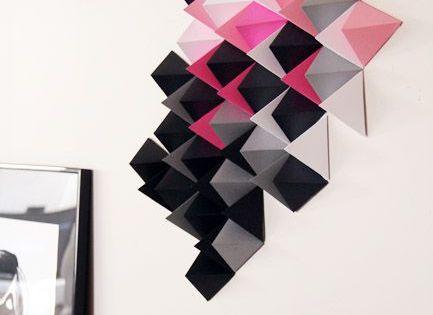 DIY paper art, by Tête d'ange - décoration murale en papier noir