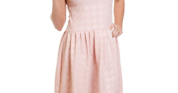 Blush Pink Houndstooth Print Is The Perfect Dress To Welcome Spring This Dress Would Be Great