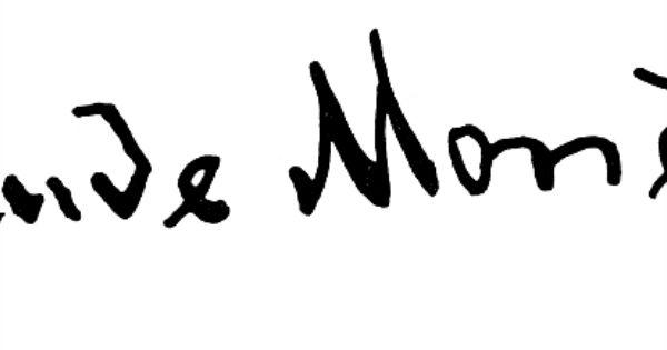 Claude Monet Signature Papeis De Parede