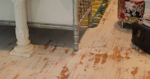 Chalk Painted Wood Floor Distressed With Sanding