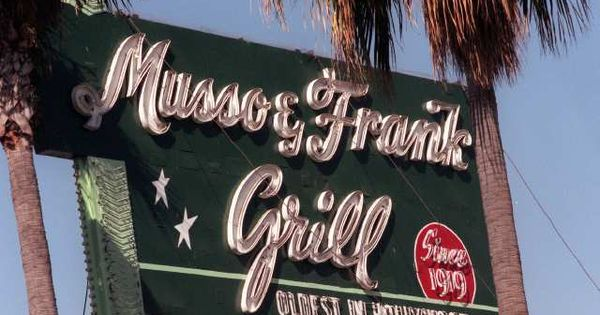 Musso and frank grill hollywood ca m and f is the oldest eatery in hollywood opened in 1919 - Musso and frank grill hollywood ...