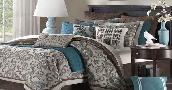 Love this color scheme. Bennett Place Comforter Set Queen Comforter Set Includes:
