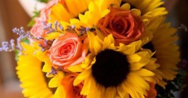 Girasoles y rosas. Los girasoles, la flor perfecta para una boda bodas