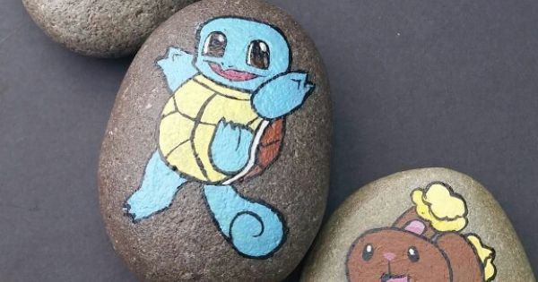 Pokemon painted pebbles ♥♡ | Pokemon | Pinterest | Painted ...