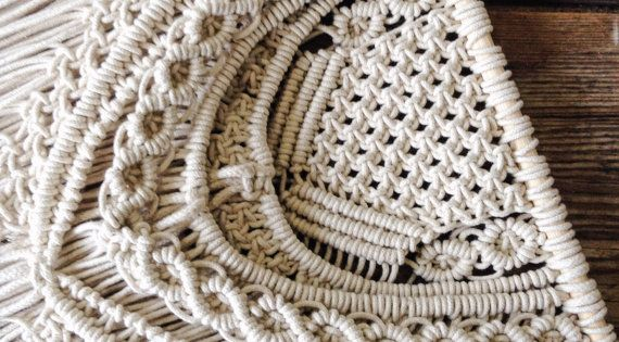 Crocheting Vs Macrame : MacramE, Tapices de macramE and Decoracion de boda on Pinterest