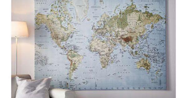 Cartina Mondo Ikea.Quadro Cartina Del Mondo Idee Ikea Idee Ikea