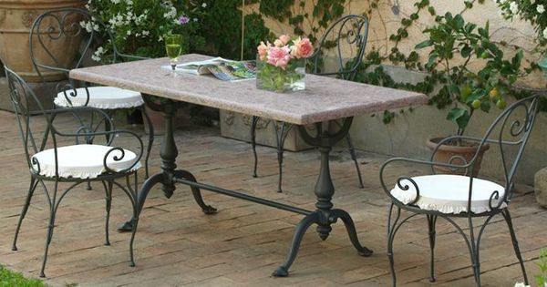 Prometeo cast iron table base exterior furniture for Traditional dining table bases
