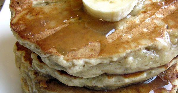 Banana bread pancakes - sounds like a yummy breakfast idea.