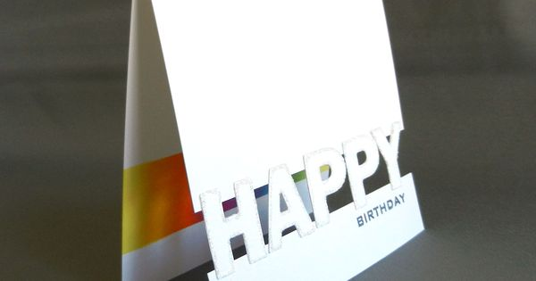 Happy space 2 (used letters to bridge the gap; cut & edged