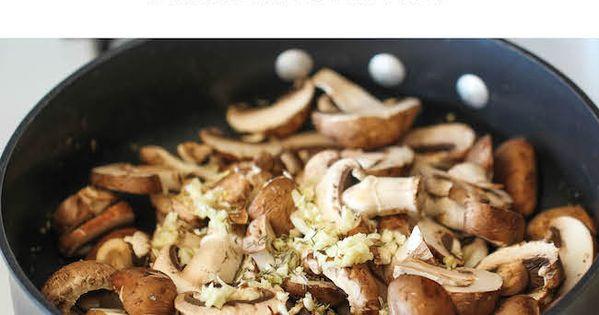 Garlic Mushroom Quinoa - An easy, healthy side dish that you'll want