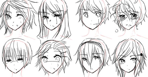 How To Draw Anime Hairstyles For Girls