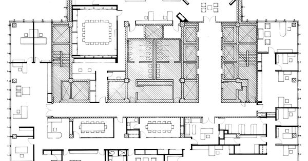 Seagram building plan in the seagram building roof for Seagram building ppt