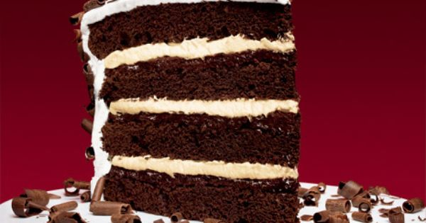 Devil's Food Layer Cake with Peppermint Frosting Recipe - Bon Appétit