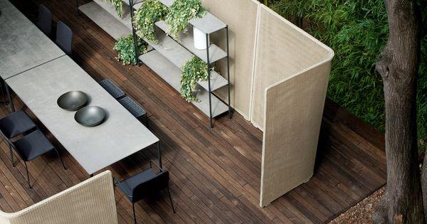 #Garden partition ABRI by Paola Lenti | design Francesco Rota outdoor decking