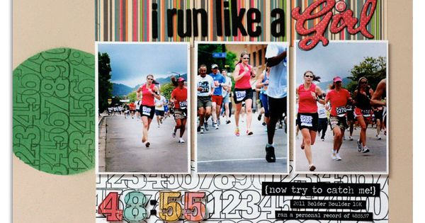 Run Like A Girl Scrapbook Page