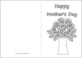Mother S Day Card Colouring Templates Sb4359 Sparklebox Mothers Day Card Template Mothers Day Cards Mother Card
