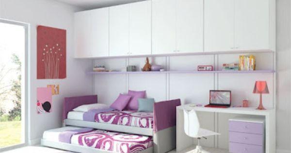 Habitaci n juvenil para dos chicas la casa ideal - Habitacion juvenil chica ...