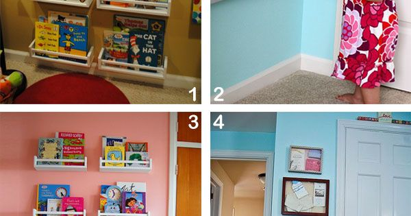 IKEA Playroom Ideas | Reading corner shelving – 1. Naptime Decorator 2. Wonderful Joy ... I have these spice racks in my room waiting I be painted and used