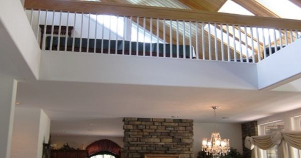 Vaulted Ceiling With A Loft Possible Game Room