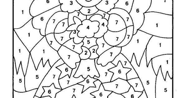 Top 10 Free Printable Color By Number Coloring Pages